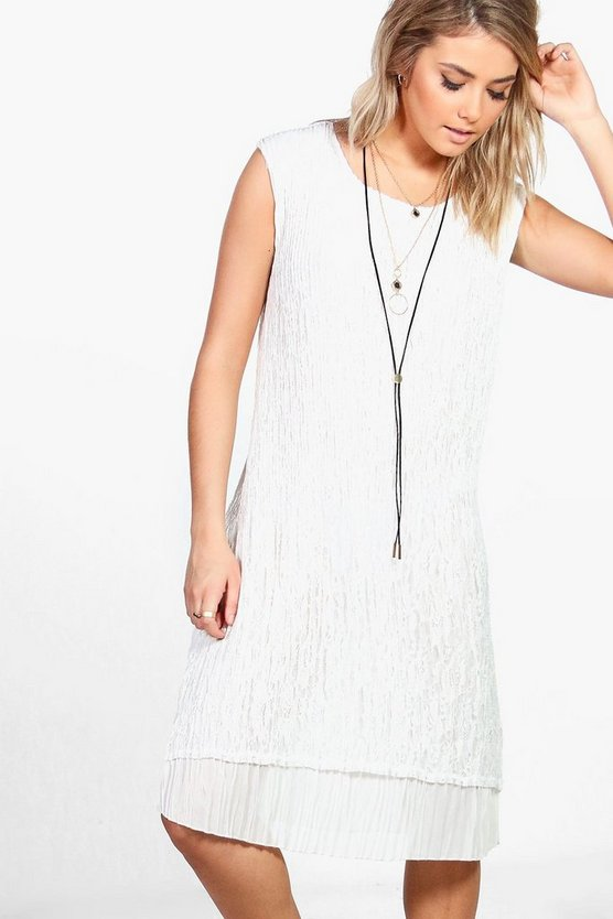 Alice Crinkle Sleeveless Midi Dress