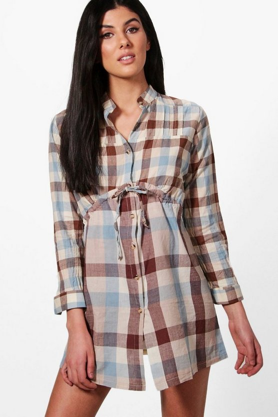 Melissa Check Shirt Dress