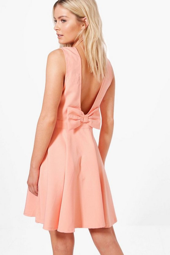 Hollie Bow Detail Skater Dress