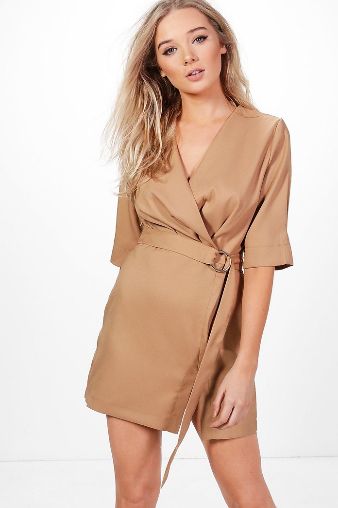 Willow Pleat Front Belted Dress