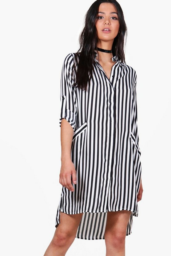 Sacha Striped Shirt Dress