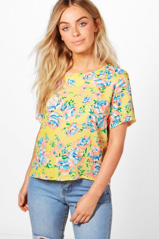 Penelope Printed Crop Top