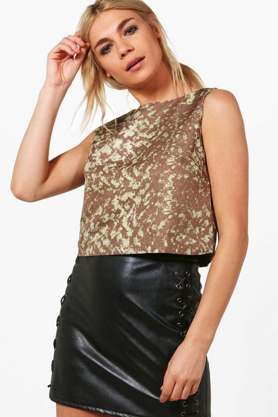 Erika Printed Crop Top