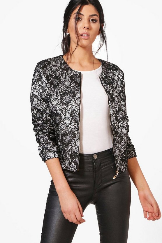 Shannon Monochrome Printed Bomber