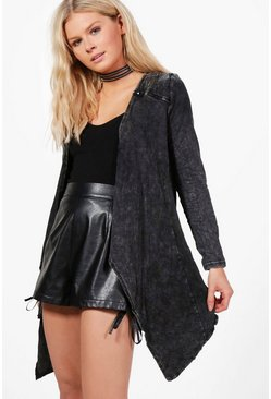 Hetty Washed Waterfall Jacket