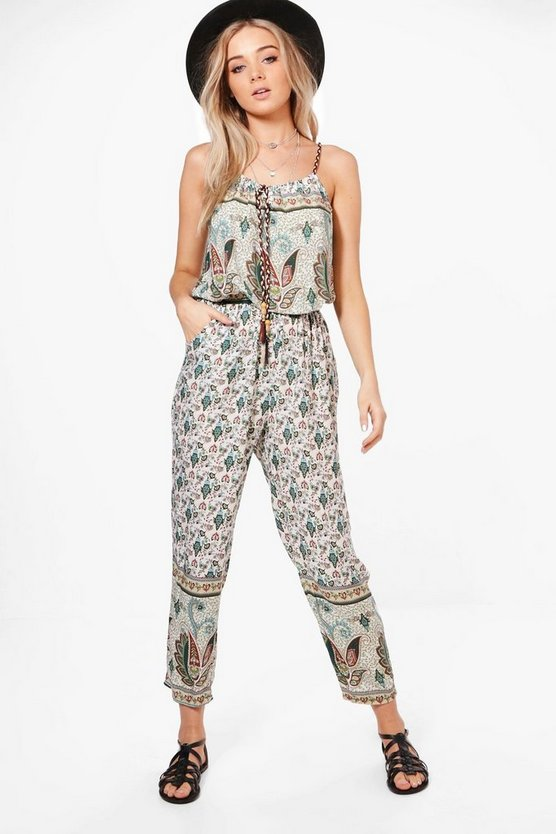Anna Festival Printed Jumpsuit