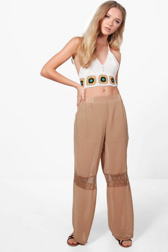 Hannah Fringed Lace Trouser