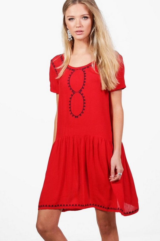 Charlotte Printed Trim Dress