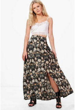 Harriet Floral Print Maxi Skirt