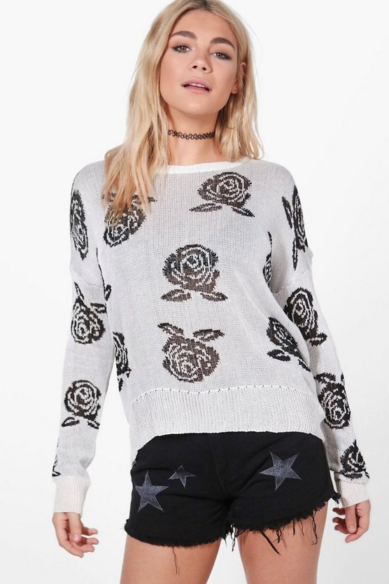 Harriet Rose Pattern Jumper