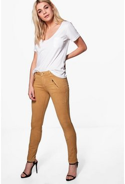 Preya Zip Side Skinny Stretch Trousers