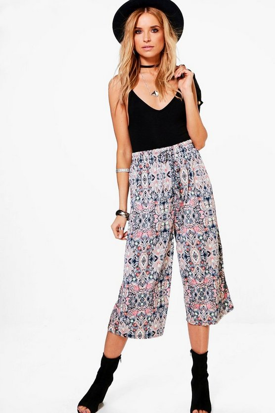 Fearne Jersey Printed Culottes