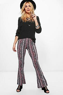 Riley Jersey Printed Flares