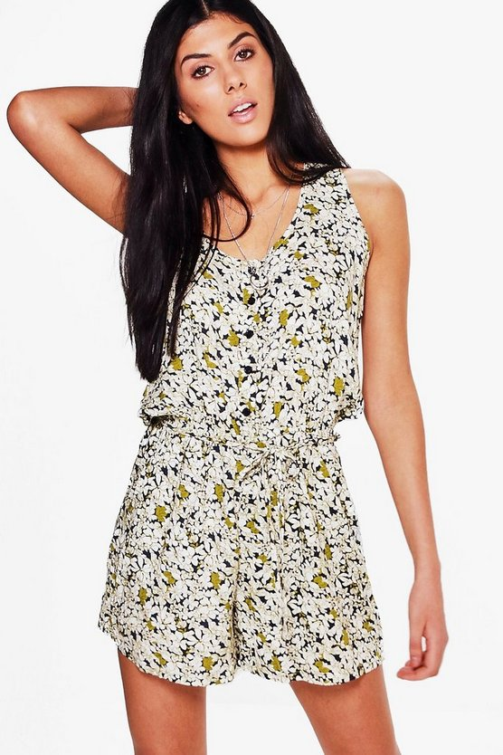 Jenny Printed Floral Playsuit
