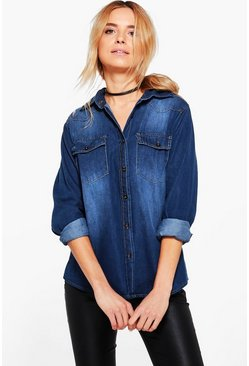 Louise Long Sleeve Denim Shirt