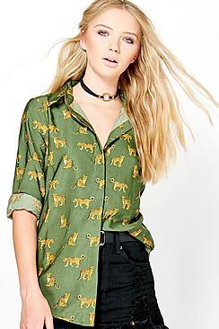 Kara Leopard Print Shirt