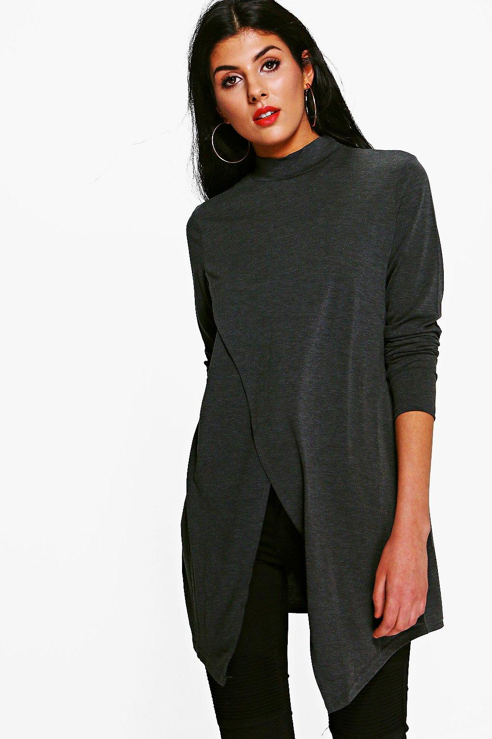 Alexia long Sleeve Wrap Front Top