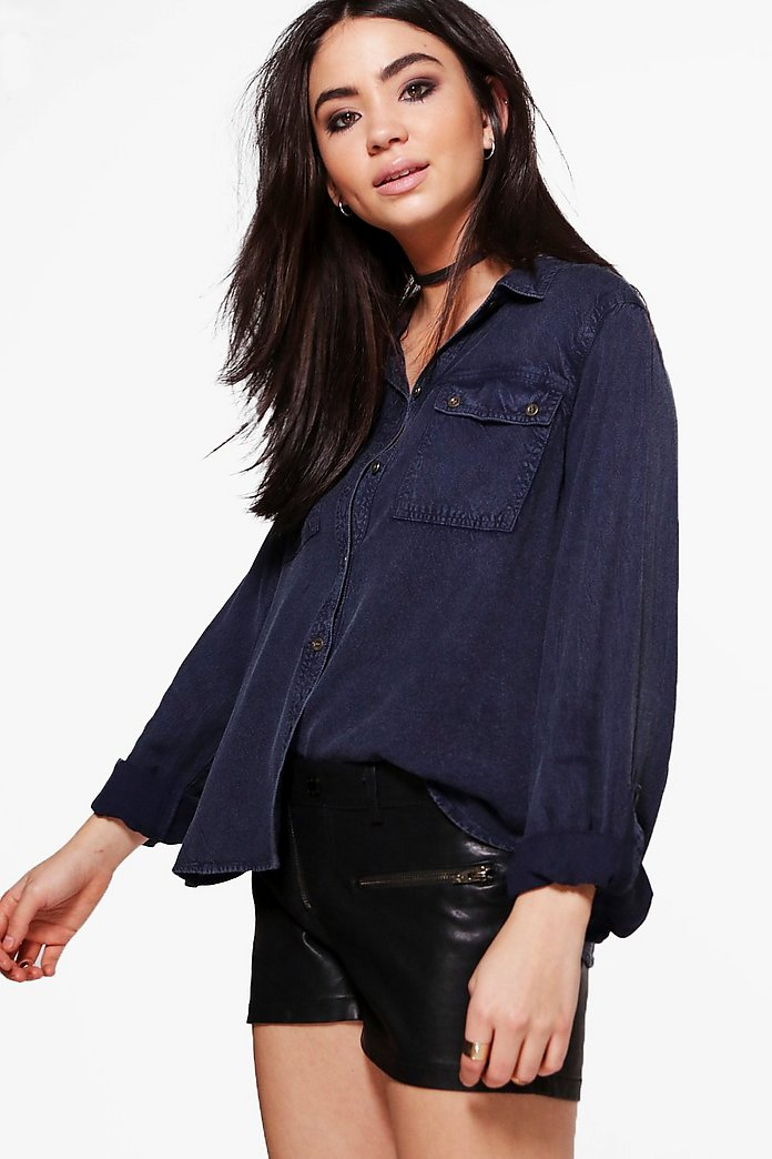 Alicia Pocket Front Shirt