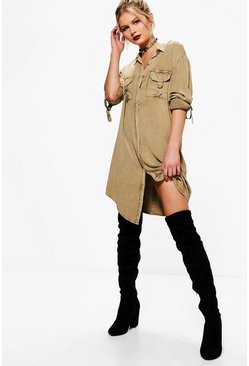 Hollie Longline D Ring Pocket Shirt
