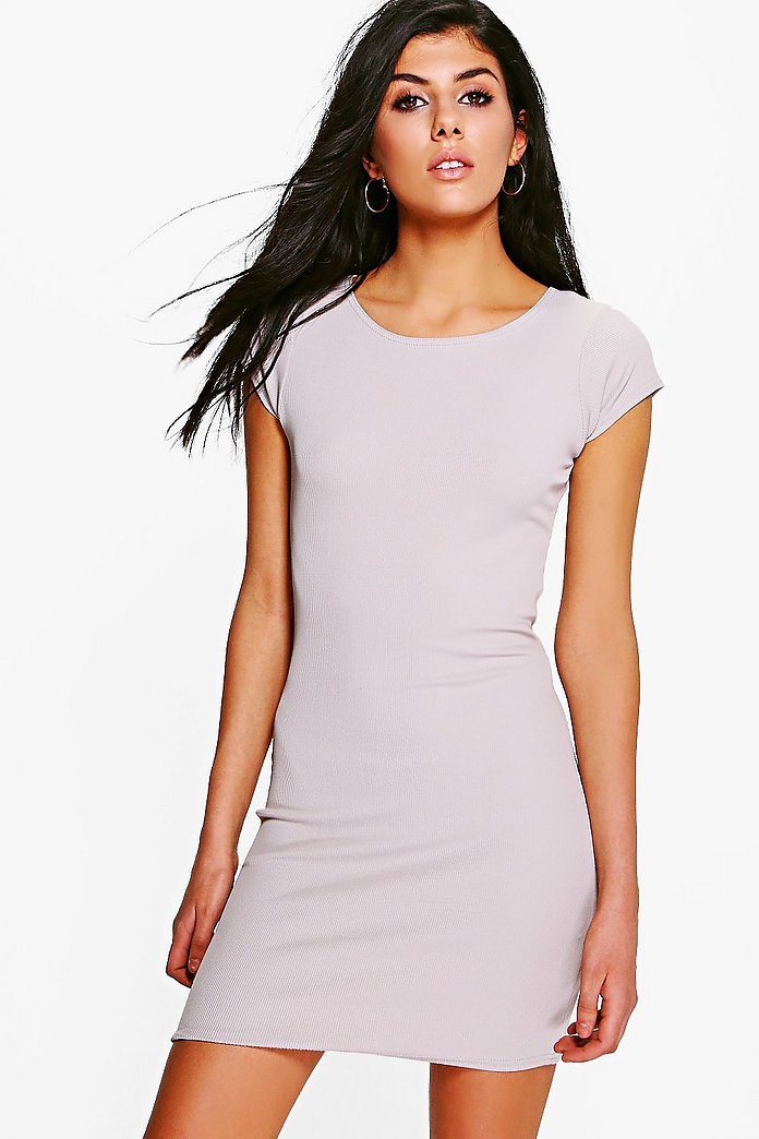 Sahara Rib Short Sleeve Bodycon Dress