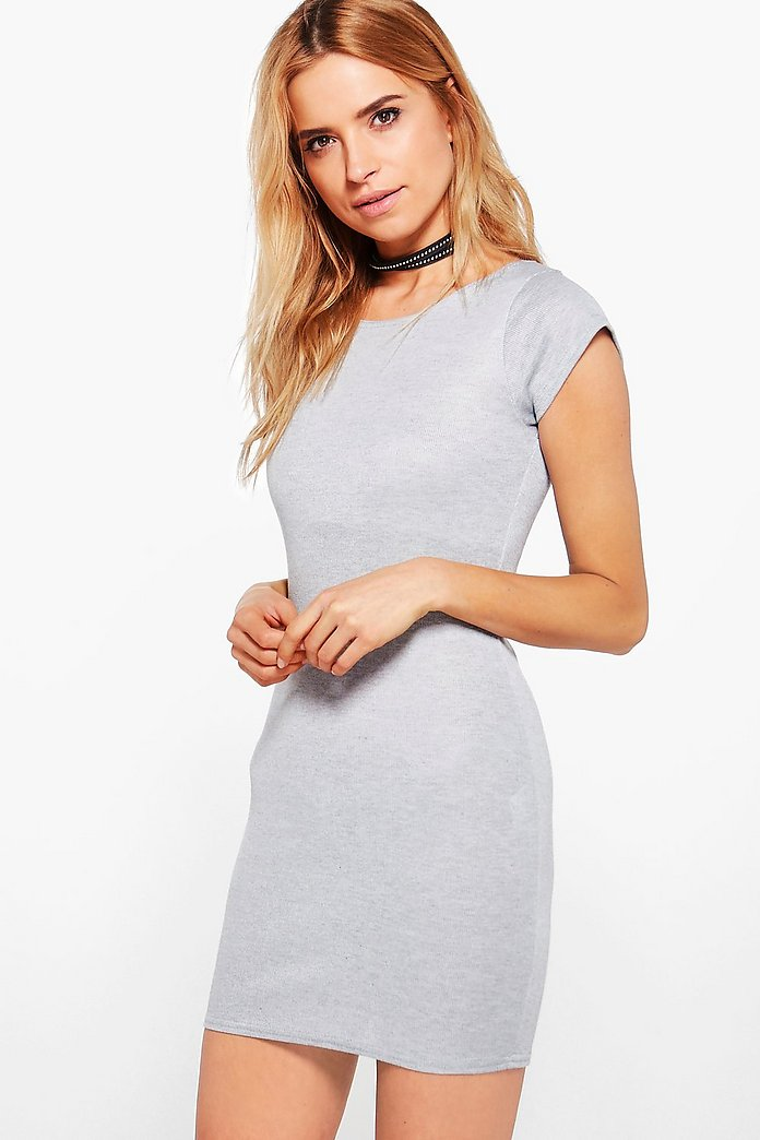 Samara Fine Rib Cap Sleeve Bodycon Dress