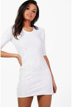 Anna Short Sleeve Shift Dress