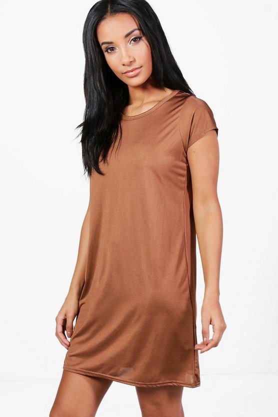 Teresa Slinky Short Sleeve Shift Dress