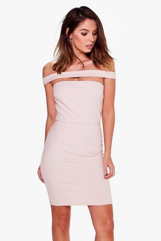 Astrid Strapless Choker Bodycon Dress