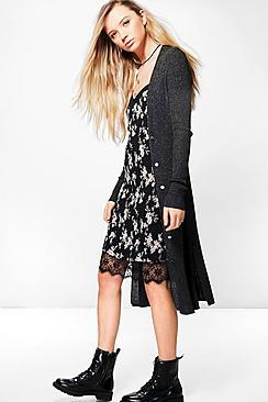 Natasha Longline Knitted Cardigan