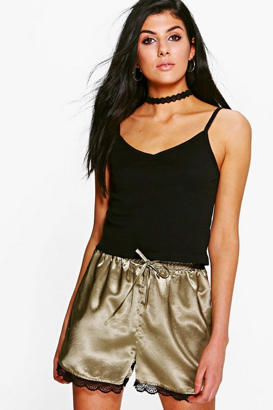 Nadia V Neck Strappy Cropped Vest