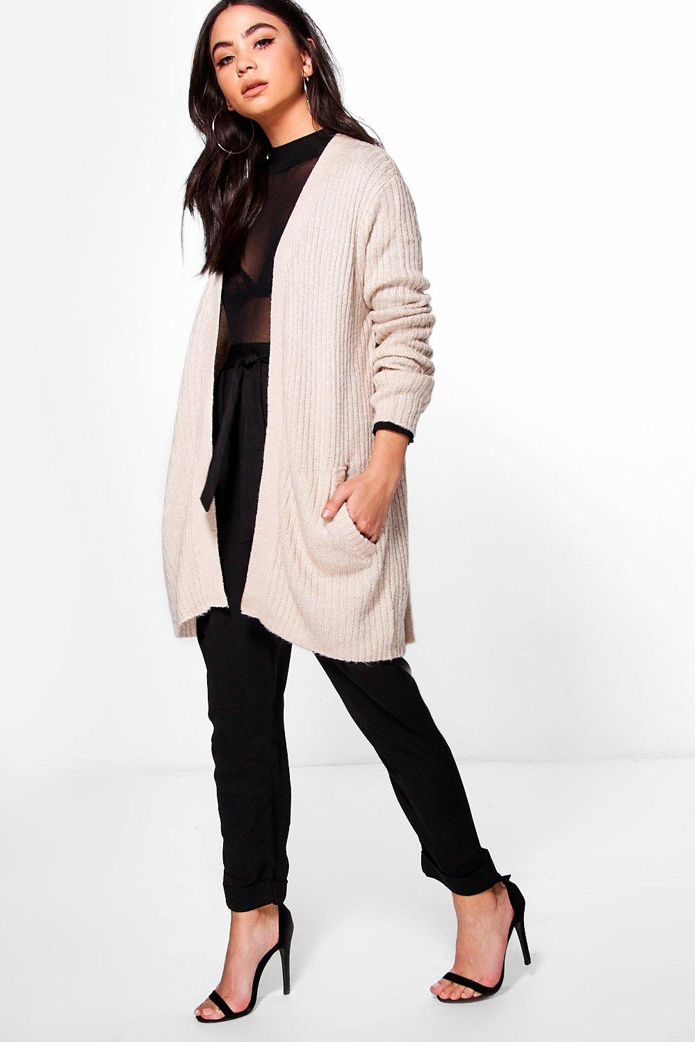 Phoebe Mid Length Open Front Cardigan