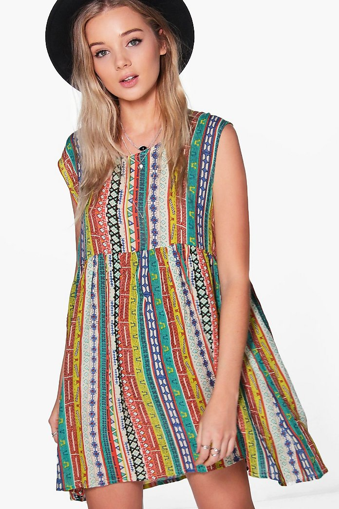 Crissy All Over Printed Smock Dress