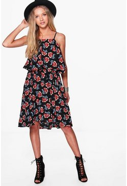 Philly All Over Printed Strappy Swing Dress