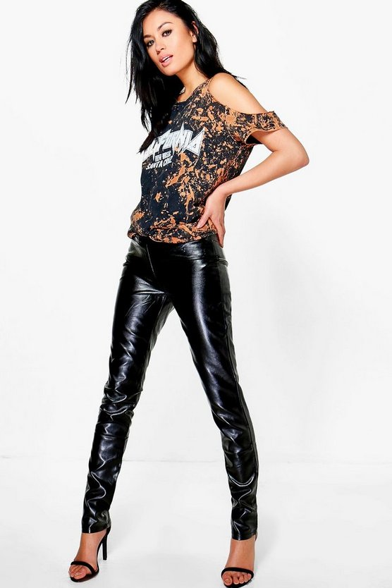 Liyla Leather Look Skinny Trousers