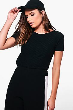 Kylie Textured Short Sleeve T-Shirt