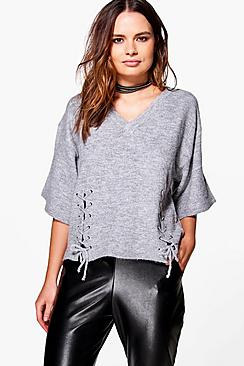 Aimee Lace Up Detail Jumper
