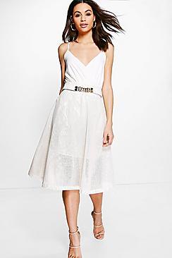 Jackie PU Midi Skirt