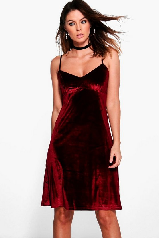 Karina Velvet Cami Dress