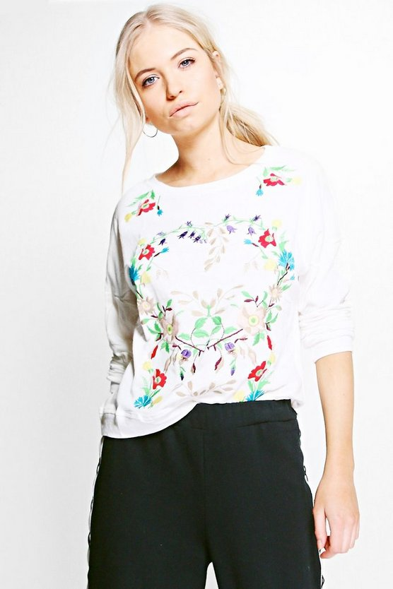 Charlotte Printed Sweat Top