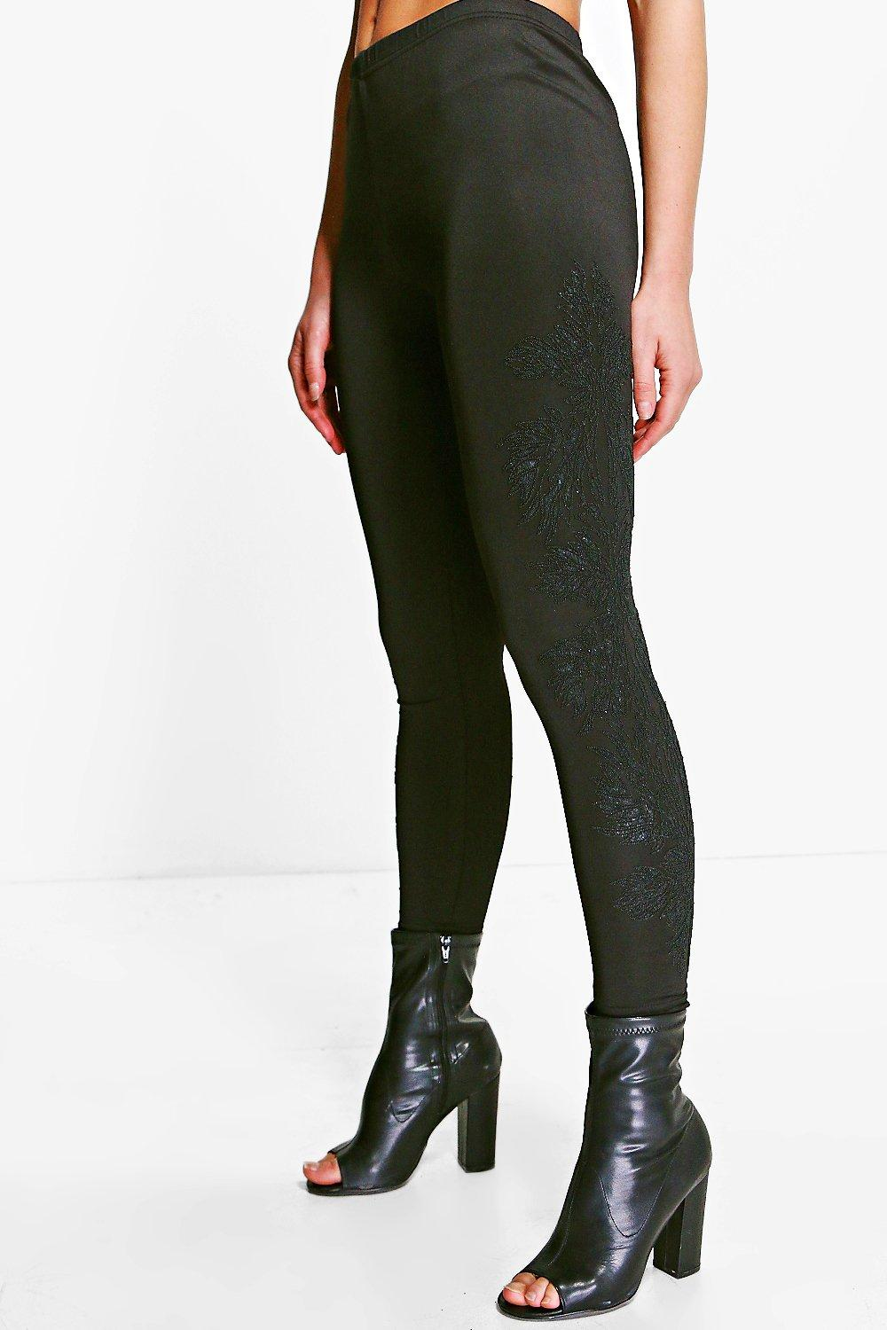 Hannah Wet Look Leggings black