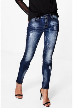 Emily Distressed Skinny Jeans