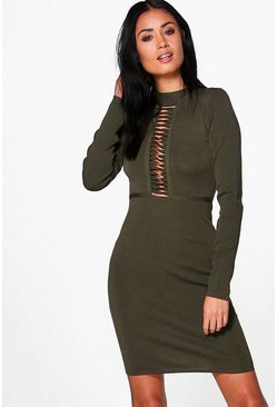 Molly Caged Ribbed Bodycon Dress