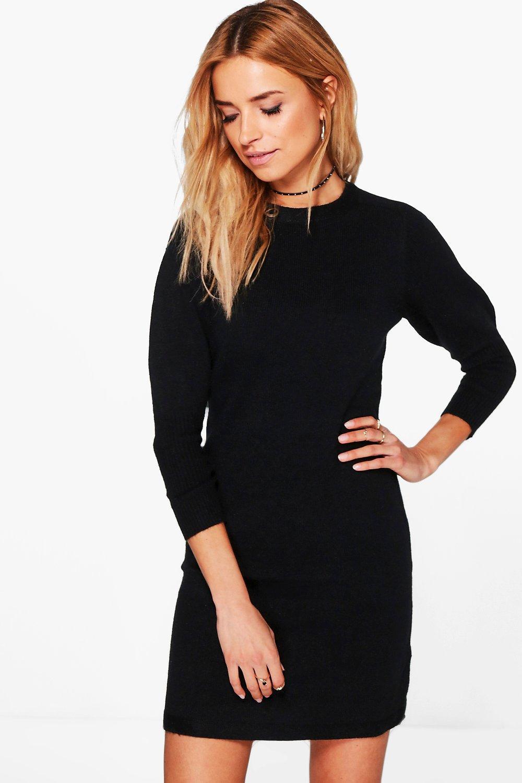 Knitted Jumper Dress  black