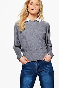 Leah Shirt Collar Knitted Jumper