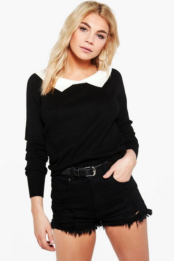 Niamh Shirt Collar Jumper
