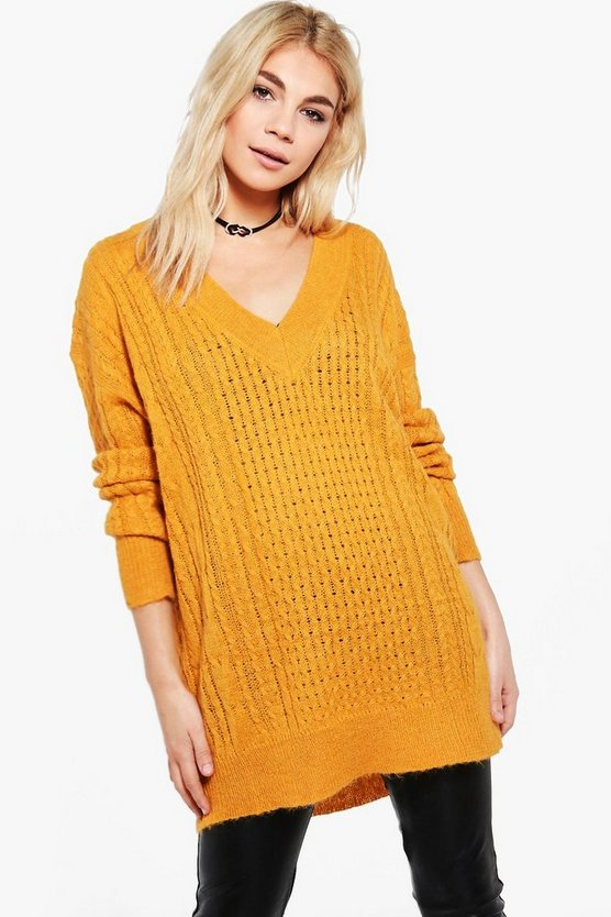 Molly Deep V Oversized Jumper