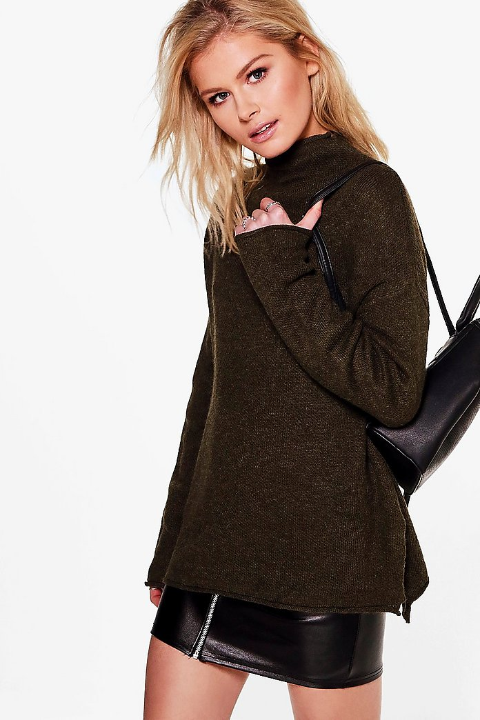 Colette High Neck Slouchy Jumper
