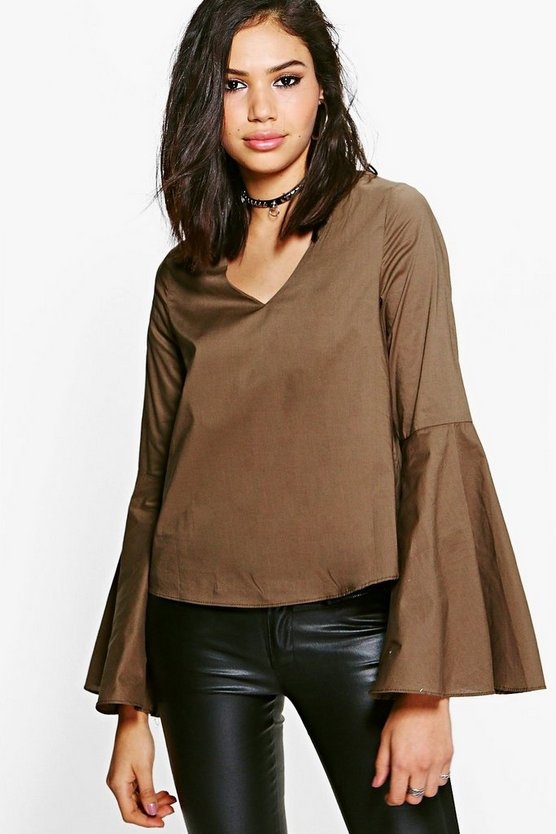 Lauren Flared Sleeve Top
