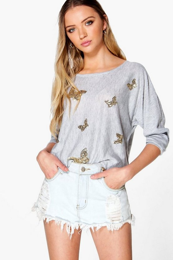 Sophie Sequin Butterfly Jumper