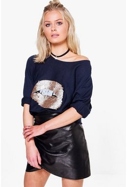 Mya Sequin Lip Jumper